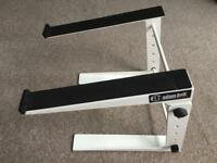 Adam Hall Adjustable Laptop Stand White (SLT001E)