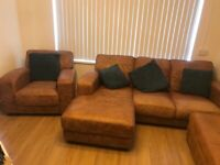Leather sofa set in good condition