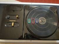DJ Hero turntable x 2 with game and stand