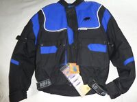 Buffalo Sportz Motorcycle Jacket. Small men's size. Never worn, still carries original labels.