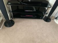 Black & Chrome TV Stand *For TV's up to 65""