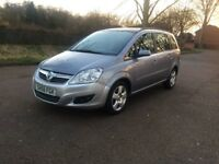 vauxhall zafira 1.6L petrol, drives perfect, full MOT, service history, 7 seats, reliable family car