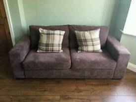 Brown 2/3 seat sofa, great condition