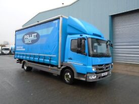 2013 MERCEDES ATEGO 816 21FT CURTAINSIDE WITH TAIL LIFT