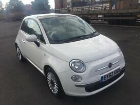 Fiat 500 1.2 Lounge - 3dr - Panoramic Roof - Blue&Me - City Drive - Full Service History