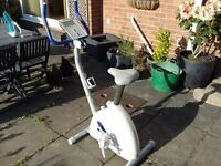 Reebok Fusion exercise bike with LCD display and various settings