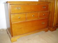 THREE DRAW CHEST OF DRAWS, YOUNGER FURNITURE, PERFECT FOR PAINTING