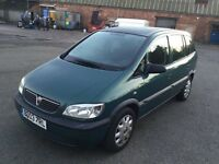2003 Vauxhall Zafira 1.6cc--11 maths mot,service history,cambelt changed,cd,ac,excellent runner. Vgc