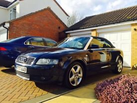 Audi A4 V6 2.5TDI Cabriolet, Mint Condition, 55 Reg, FSH, Lady Owner