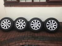 Vw alloy wheels off mk5 golf with tyres