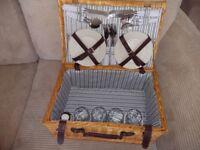 As new wicker picnic hamper
