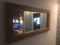 Beautiful oak veneer mirror