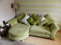 4 Seater lounge sofa and pattern accent chair