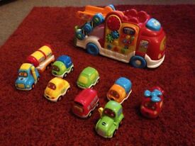 Vtech car carrier and eight vehicles