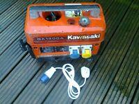 Kawasaki generator 240v / 110v / 12v petrol suitcase generator, ideal for camping