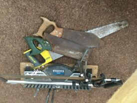Mitre saw and saws