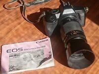 Canon, Coronet Rex & Minolts 35mm cameras, Cosina 70-210 lens & case & Pullman gadget bag