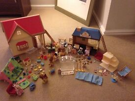 Selection of Sylvanian Families Toys & Buildings