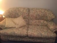 3 piece suite - 3 seater and 2 chairs