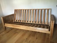 New 3 seater Solid Oak frame sofa bed by Futon Company!