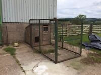 Wooden Dog kennel and run