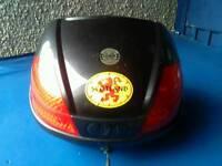 Motorcycle rear box