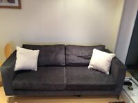Modern charcoal grey sofa and armchair set