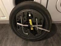 "5x112 Vw audi seat Skoda 18"" spare wheel and full tool kit complete mk5 mk6 mk7 golf etc"