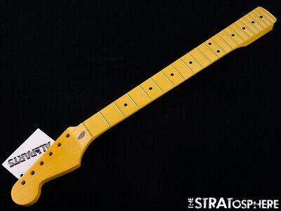 Used Fender Lic Allparts Stratocaster NECK Strat LEFTY Maple Vintage Tint