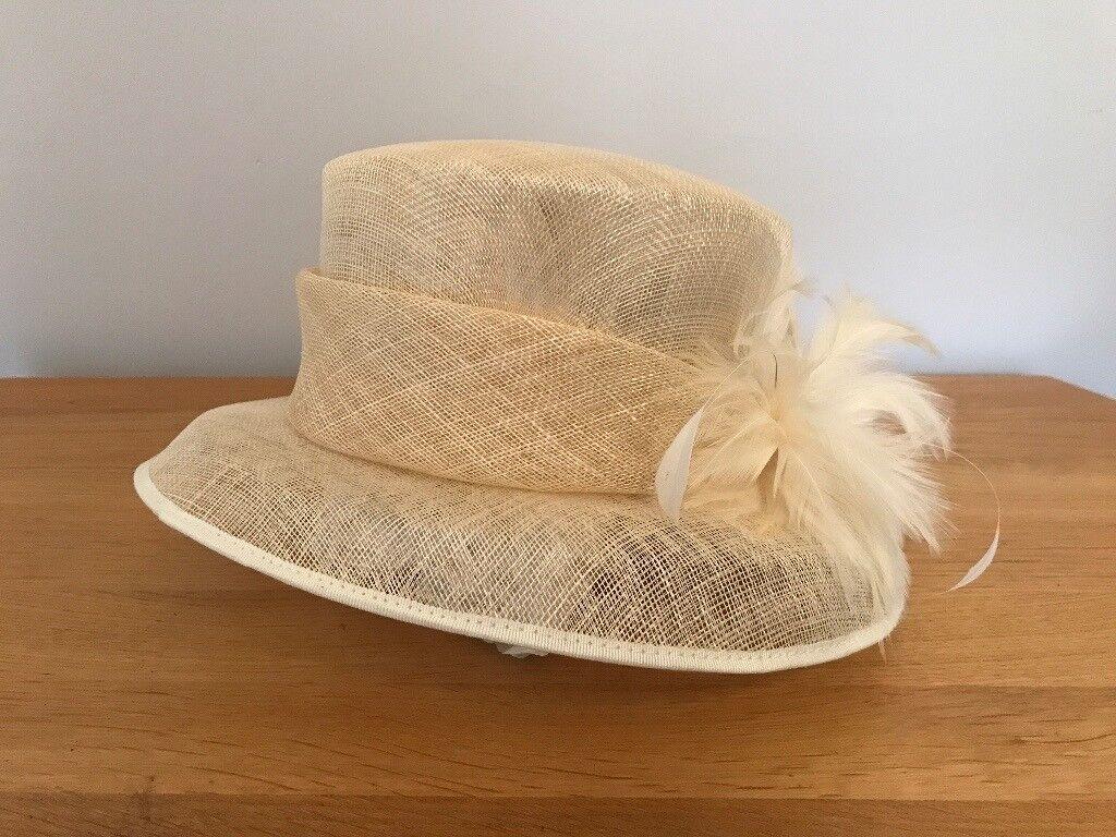 Beautiful cream formal hat John Lewis