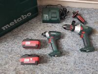 Metabo 18v LTX Impact and Combi Hammer Drill Set 5.2Ah Brand New
