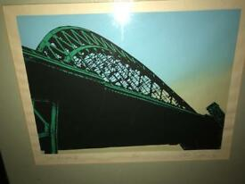 Tyne bridge print 7/15