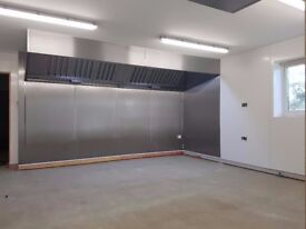 1200 1.2mtr Commercial Kitchen Extraction Canopy (supply or install) DIRECT FROM THE FACTORY