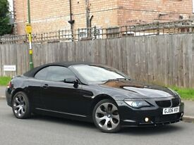 2006 BMW 630I 3.0 PETROL AUTOMATIC-CONVERTIBLE-FULL LEATHERS-GREAT RUNNER PX WELCOME