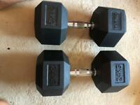 Rubber hex dumbbells and other fitness equipment - ELEIKO