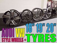 4 NEW VW AUDI STYLE WHEELS POLO GOLF A3 A4 A5 A6 A7 A8 GTI S3 S4 RS4 RS5 RS6