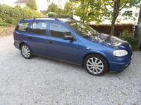Vauxhall Astra Elegance Estate 1796cc 16v on a 51 plate in Metallic Blue.