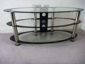 Glass & Chrome TV Stand