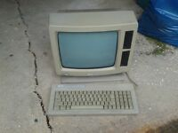 Amstrad PCW 8512 computer, printer & Amsoft Loco Script on 3inch disc (sold NOT working)