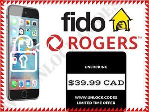UNLOCK.CODES  --  Rogers / Fido iPhone Unlocking  --  39.99 CAD