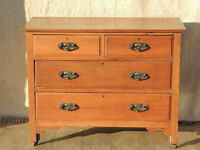 Satinwood chest of drawers (Delivery)
