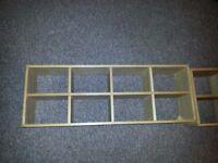 4 Tier Wooden Display Cubed Storage Shelves Unit