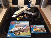 Lego big airplane and minifigures