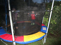 8ft trampoline in full working order