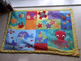 Large colourful baby play mat