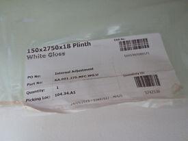 White Gloss Kitchen Plinth from Wren - NEW - 150mm x 2750mm x 18mm
