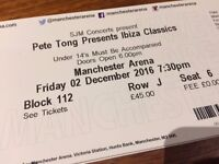 Pete Tong Ibiza Classics 2x tickets Manchester, Friday December 2nd 2016 £60