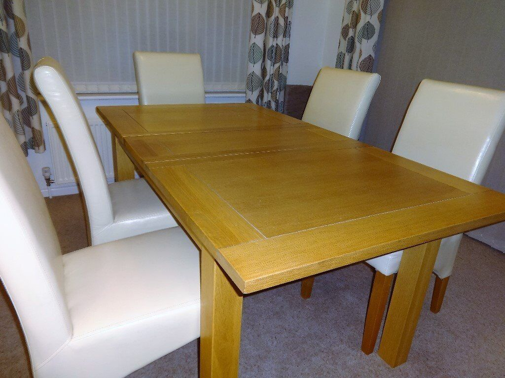 Solid Oak Dining Table And Chairs In Norwich Norfolk Gumtree