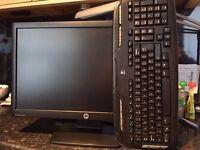 HP ProDisplay P221 21.5 inch LED Monitor C9E49AA, C9E49AT + Logitech Keyboard(FOR A PRESENT)