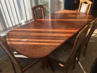 Large dining table & 5 chairs - cheap!!!